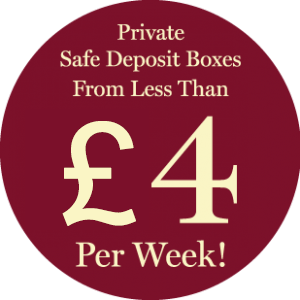 Private Safe Deposit Boxes From less Then 4 pounds