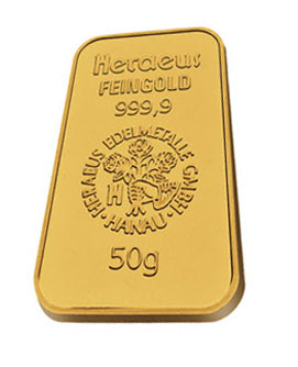 50 gram gold bar - Merrion Gold